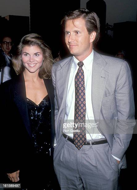 Actress Lori Loughlin and husband Michael Burns attend the ABC Affiliates Party on June 14 1989 at Century Plaza Hotel in Los Angeles California