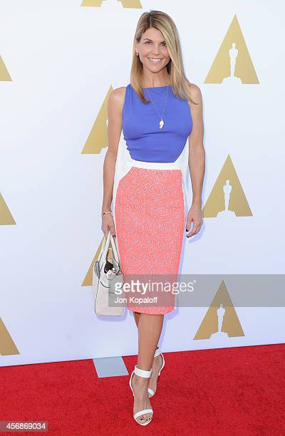 Actress Lori Loughlin arrives at The Academy Hosts Hollywood Costume Private Luncheon at Wilshire May Company Building on October 8 2014 in Los...
