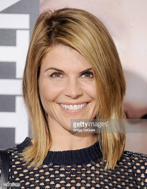"""Actress Lori Loughlin arrives at the """"Identity Thief"""" Los Angeles premiere at Mann Village Theatre on February 4, 2013 in Westwood, California."""