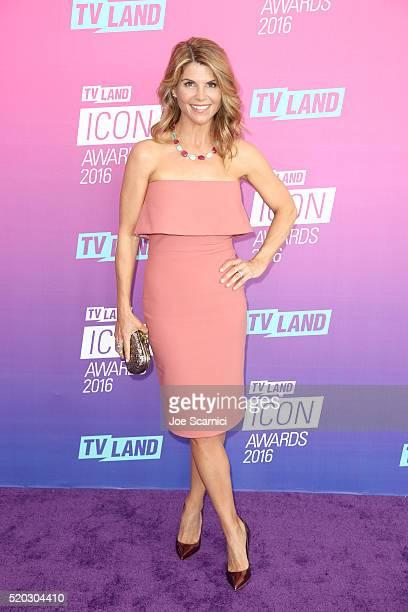 Actress Lori Loughlin attends 2016 TV Land Icon Awards at The Barker Hanger on April 10 2016 in Santa Monica California