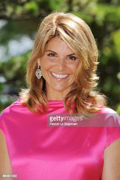 """Actress Lori Loughlin attends a photocall for the American TV series """"90210"""" during the 2009 Monte Carlo Television Festival held at Grimaldi Forum..."""