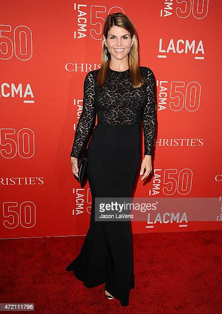 Actress Lori Loughlin attends LACMA's 50th anniversary gala at LACMA on April 18 2015 in Los Angeles California