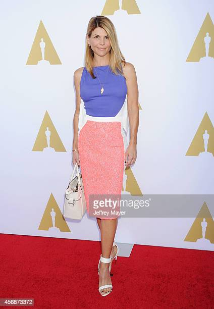 Actress Lori Loughlin attends the Academy Of Motion Picture Arts and Sciences' Hollywood Costume Luncheon at Wilshire May Company Building on October...