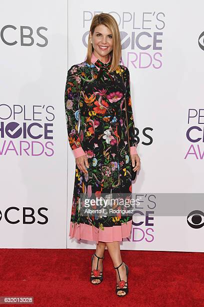 Actress Lori Loughlin attends the People's Choice Awards 2017 at Microsoft Theater on January 18 2017 in Los Angeles California