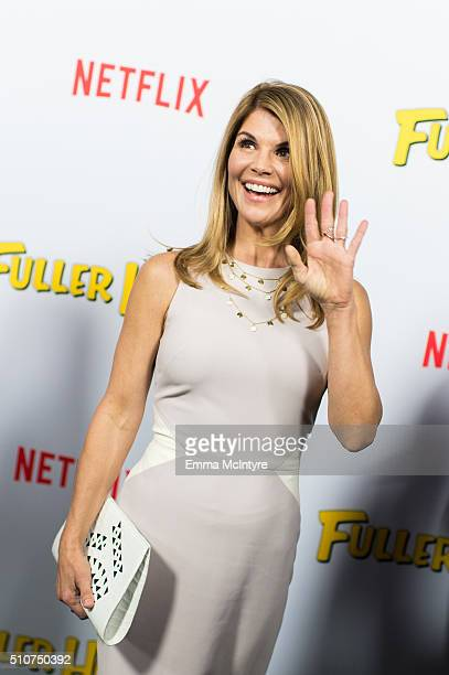 Actress Lori Loughlin attends the premiere of Netflix's 'Fuller House' at Pacific Theatres at The Grove on February 16 2016 in Los Angeles California