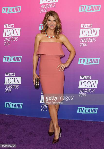 Actress Lori Loughlin attends the TV Land Icon Awards at The Barker Hanger on April 10 2016 in Santa Monica California