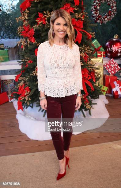 Actress Lori Loughlin visits Hallmark's 'Home Family' at Universal Studios Hollywood on December 21 2017 in Universal City California