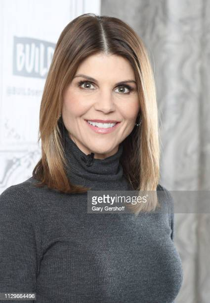 Actress Lori Loughlin visits the Build Brunch to discuss the Hallmark Channel TV series 'When Calls the Heart' at Build Studio on February 14 2019 in...