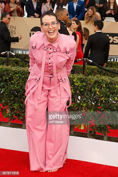 Actress Lori Petty attends the 22nd Annual Screen Actors Guild Awards at The Shrine Auditorium on January 30 2016 in Los Angeles California