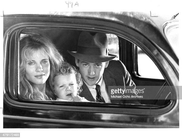Actress Lori Singer and actor Anthony Edwards in a scene from the movie Summer Heat circa 1987