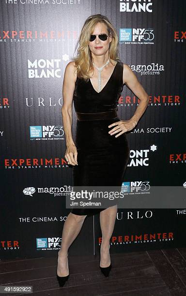 Actress Lori Singer attends Montblanc The Cinema Society host a party for The New York Film Festival premiere of Magnolia Pictures' Experimenter at...