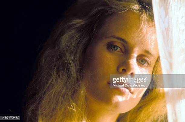 Actress Lori Singer poses in a scene from the movie Summer Heat circa 1987