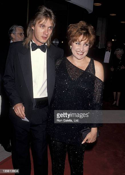 Actress Lorna Luft and date Colin Freeman attend the That's Entertainment III Westwood Premiere on April 28 1998 at Mann National Theatre in Westwood...