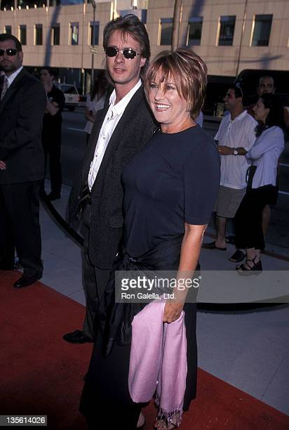 Actress Lorna Luft and husband Colin Freeman attend the Screening of the HBO Original Movie Introducing Dorothy Dandridge on August 9 1999 at the...