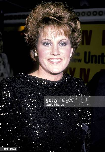Actress Lorna Luft attends the 'Rocky IV' Westwood Premiere on November 21 1986 at Mann Village Theatre in Westwood California