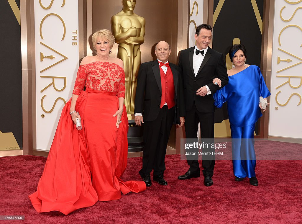 Actress Lorna Luft, Joseph Luft, guest and singer Liza Minnelli attend the Oscars held at Hollywood & Highland Center on March 2, 2014 in Hollywood, California.