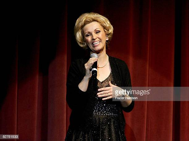 Actress Lorna Patterson performs onstage during the WeSPARKLE Variety Hour to benefit weSPARK Cancer Support Center held at The Henry Fonda Music Box...