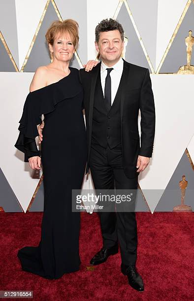 Actress Lorraine Ashbourne and actor Andy Serkis attend the 88th Annual Academy Awards at Hollywood Highland Center on February 28 2016 in Hollywood...