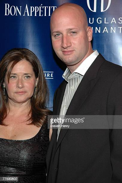 Actress Lorraine Bracco and Jason Cipolla attend the Douglas Hannant's 10th Anniversary at the Bon Appetit Supper Club on October 26 2007 in New York...