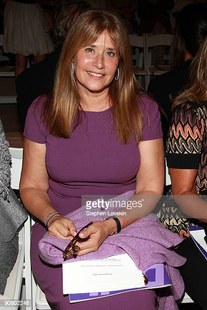 Actress Lorraine Bracco attends Dennis Basso Spring 2010 fashion show at the Promenade at Bryant Park on September 15 2009 in New York New York