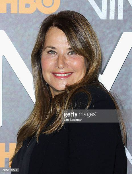 Actress Lorraine Bracco attends the 'Vinyl' New York premiere at Ziegfeld Theatre on January 15 2016 in New York City