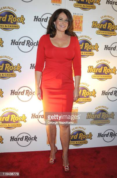Actress Lorraine Bracco during the launch of Bracco Wines at the Hard Rock Cafe on February 25 2008 in New York City
