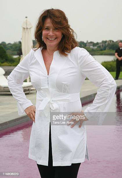 Actress Lorraine Bracco visits a Bracco Wine Tasting at the home of Andrew Borrok on August 26 2007 in Water Mill New York