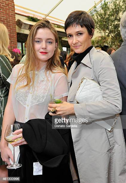 Actress Lorraine Nicholson and socialite Cassandra Grey attend Lynn Hirschberg Celebrates W's It Girls with Piaget and Dom Perignon at AOC on January...