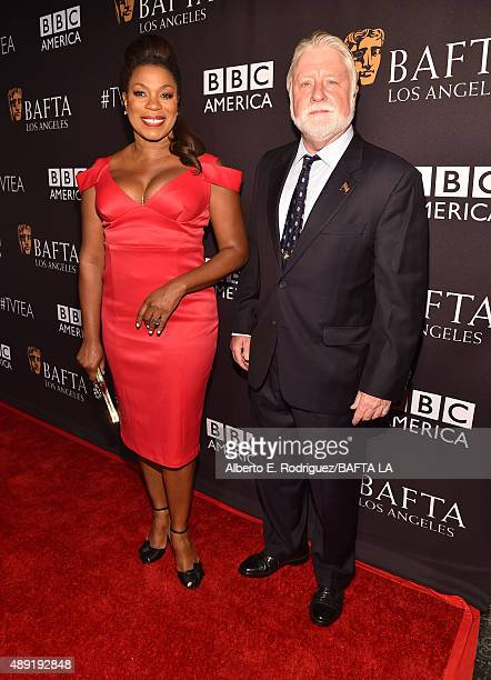 Actress Lorraine Toussaint and Micah Zane attend the 2015 BAFTA Los Angeles TV Tea at SLS Hotel on September 19 2015 in Beverly Hills California