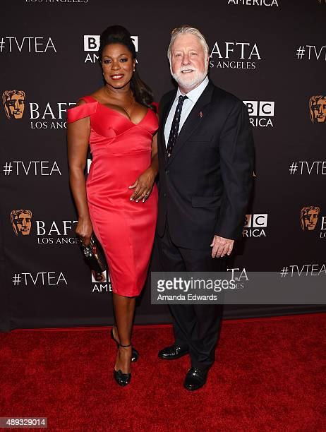 Actress Lorraine Toussaint and Michael Tomlinson arrive at the BAFTA Los Angeles TV Tea 2015 at the SLS Hotel on September 19 2015 in Beverly Hills...
