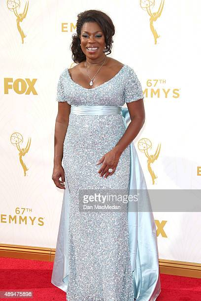 Actress Lorraine Toussaint arrives at the 67th Annual Primetime Emmy Awards at the Microsoft Theater on September 20 2015 in Los Angeles California