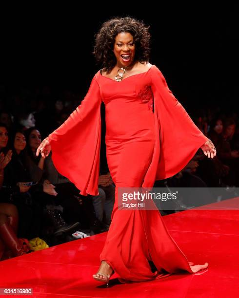 Actress Lorraine Toussaint walks the runway during the Go Red for Women fashion show during Fall 2017 New York Fashion Week at Hammerstein Ballroom...