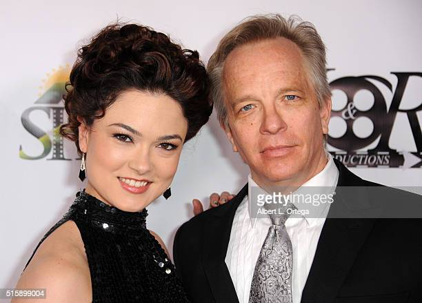 Actress Lorrisa Julianus and actor Craig Angel arrive for the Premiere Of JR Productions' Halloweed held at TCL Chinese 6 Theatres on March 15 2016...