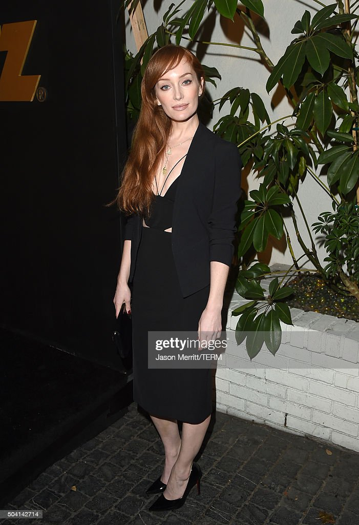 Actress Lotte Verbeek attends the STARZ Pre-Golden Globe Celebration at Chateau Marmont on January 8, 2016 in Los Angeles, California.