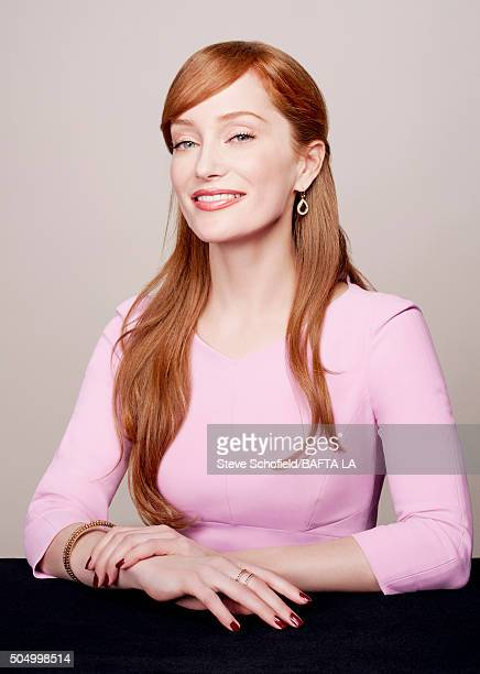 Actress Lotte Verbeek poses for a portrait at the BAFTA Los Angeles Awards Season Tea at the Four Seasons Hotel on January 9 2016 in Los Angeles...