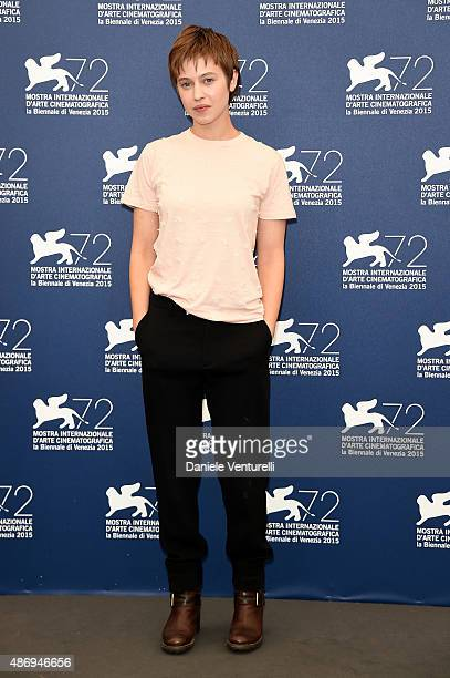 Actress Lou de Laage attends a photocall for 'The Wait' during the 72nd Venice Film Festival at Palazzo del Casino on September 5 2015 in Venice Italy