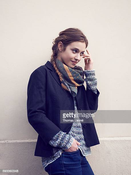 Actress Lou de Laage is photographed for Self Assignment on February 15 2013 in Paris France