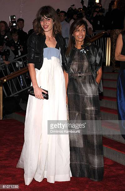 "Actress Lou Doillon and designer Consuelo Castiglioni attend the Metropolitan Museum of Art Costume Institute Gala ""Superheroes: Fashion And Fantasy""..."