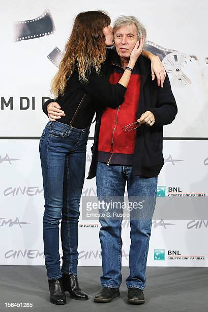 Actress Lou Doillon and director Jacques Doillon attends the 'Un Enfant De Toi' Photocall during the 7th Rome Film Festival at the Auditorium Parco...