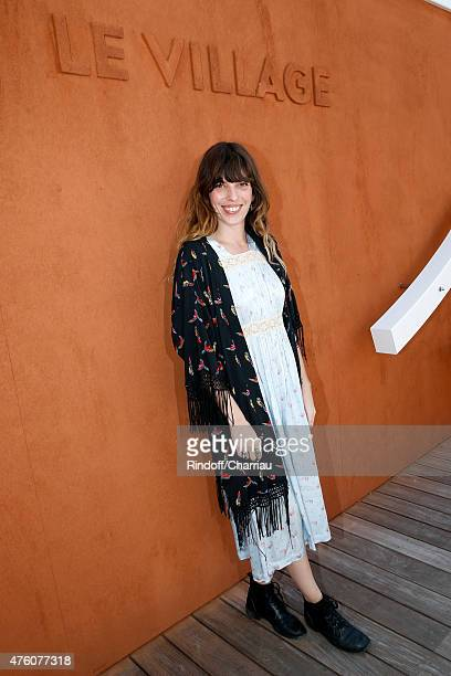 Actress Lou Doillon attends the 2015 Roland Garros French Tennis Open Day Fourteen on June 6 2015 in Paris France