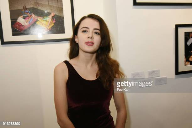 Actress Lou Gala attends 20 ans aux Bains Douches Night Clubbing Photo Exhibition Preview at Les Bains Ephemeral Gallery on February 1 2018 in Paris...