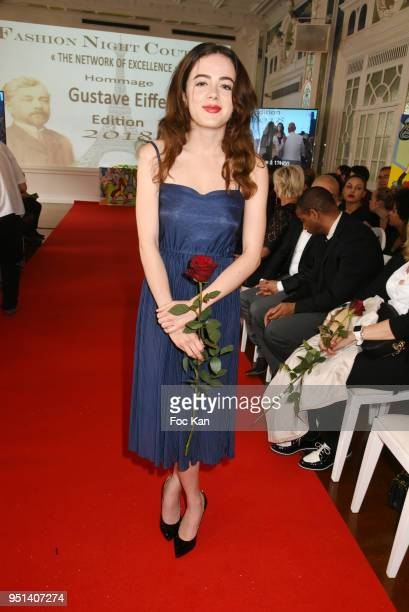 Actress Lou Gala attends Fashion Night Couture 8th Edition at Galerie de Miroirs on April 25 2018 in Paris France