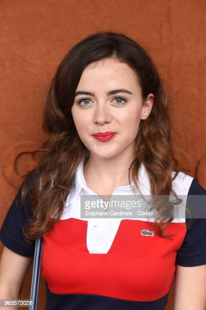 Actress Lou Gala attends the 2018 French Open Day three at Roland Garros on May 29 2018 in Paris France