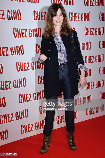 Actress Lou Lesage attends 'Chez Gino' Paris Premiere at Cinema Gaumont Opera on March 29 2011 in Paris France