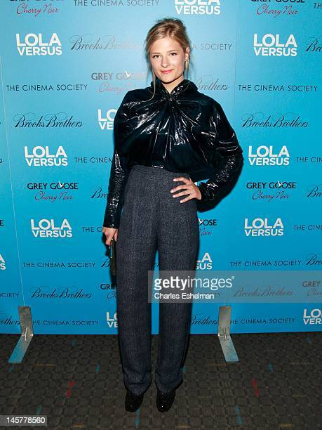 Actress Louisa Gummer attends The Cinema Society Brooks Brothers with Grey Goose screening of Lola Versus at the SVA Theatre on June 5 2012 in New...