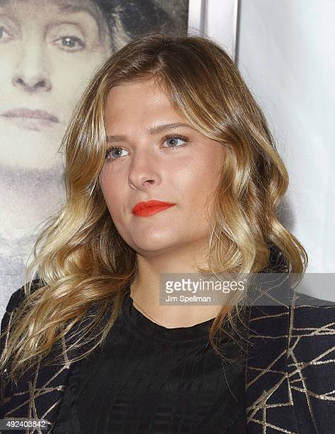 Actress Louisa Gummer attends the Suffragette New York premiere at The Paris Theatre on October 12 2015 in New York City