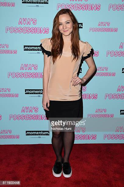 Actress Louisa Krause attends 'Ava's Possessions' New York screening at Sunshine Landmark on February 23 2016 in New York City