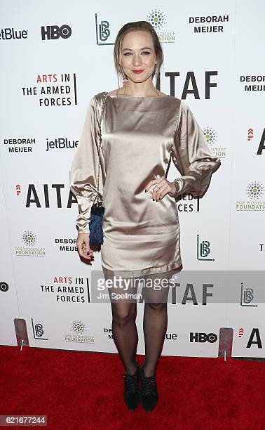 Actress Louisa Krause attends the 8th Annual Arts In The Armed Forces performance on Broadway at Studio 54 on November 7 2016 in New York City