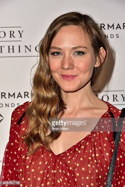 Actress Louisa Krause attends the Theory of Everything New York Screening at Lighthouse International Theater on November 5 2014 in New York City
