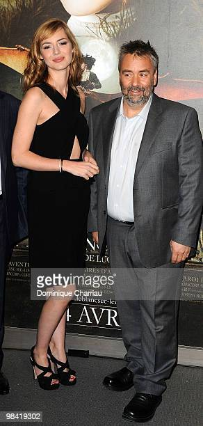 Actress Louise Bourgoin and Director Luc Besson attend the premiere of the Luc Besson's film 'Les Aventures Extraordinaires d'Adele Blanc-Sec' at...